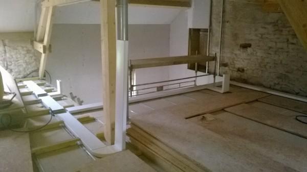 Installation de conduits de ventilation double flux par les électriciens hatterer électricité à Torcenay