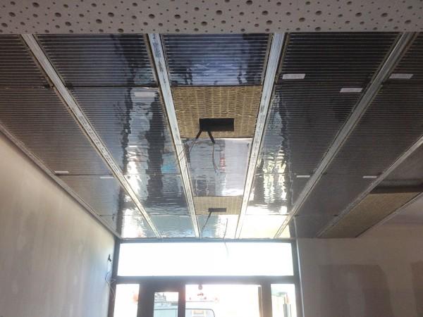 Plafond chauffant installé par les électriciens de la société hatterer électricité